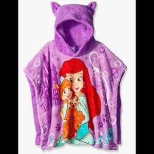 Disney Girls' Ariel/Treasure Plush Toddler Poncho